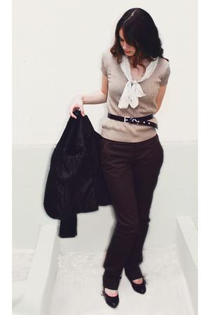Zara t-shirt - asos shirt - Zara pants - Bershka jacket - next shoes