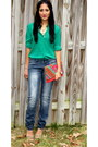 H-m-jeans-no-brand-purse-ann-taylor-blouse-forever-21-heels