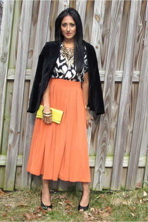 no brand skirt - Zara blazer - Barneys blouse