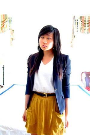 American Apparel skirt - Vintage blazer - Hanes t-shirt