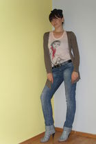 shirt - New Yorker jeans - Zara cardigan - Retro shoes - accessories