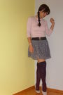 Zara-skirt-terranova-sweater-new-yorker-stockings