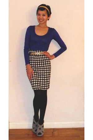 black New York Clothing Co skirt - navy made for me 2 look amazing top