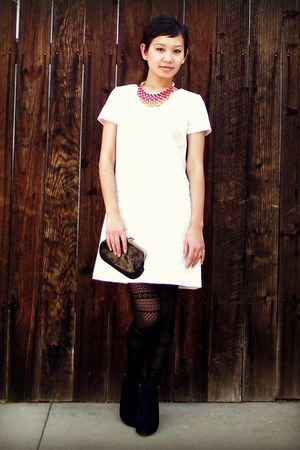 ivory shift xhilaration dress - black faux-suede Sam & Libby for Target boots