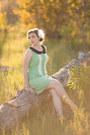 Vintage-dress-dress-thrifted-heels