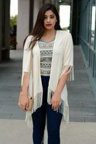 navy Topshop jeans - tan Forever 21 bag - beige Urban Outfitters top