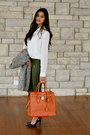 Heather-gray-romwe-coat-carrot-orange-hamilton-tote-michael-kors-bag