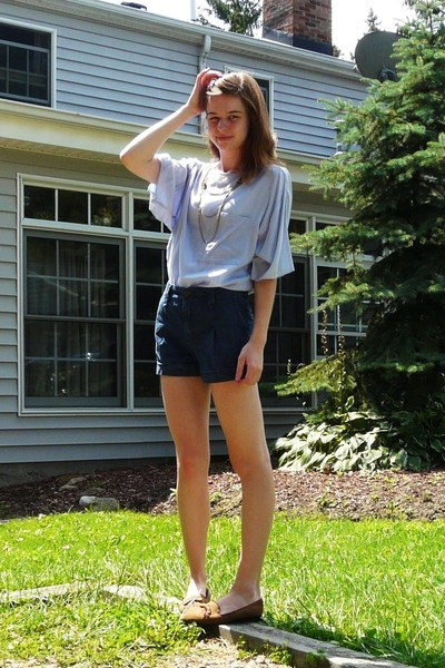 vintage - Forever21 shorts - moms old - Nordstrom necklace