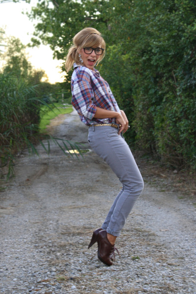 Urban Outfitters glasses - Old Navy pants - vintage blouse