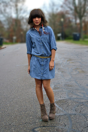 Gap dress - Steve Madden boots