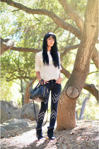 free people jeans - see by chloé bag - H&M blouse - Isabel Marant sneakers