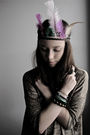 Gold-h-m-shirt-green-h-m-accessories-purple-glitter-bracelet-green-h-m-bra