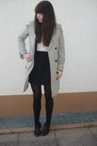 American Apparel skirt - Zara jacket - H&M shirt - Zara coat - Wolford tights -