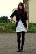 thrifted blazer - American Apparel shirt - Zara skirt