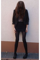 American Apparel skirt - H&M blazer - American Apparel top - goertz shoes