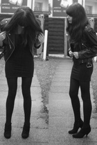Buffalo shoes - American Apparel dress - vintage from Ebay jacket