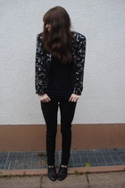 American Apparel top - H&M pants - goertz - vintage jacket