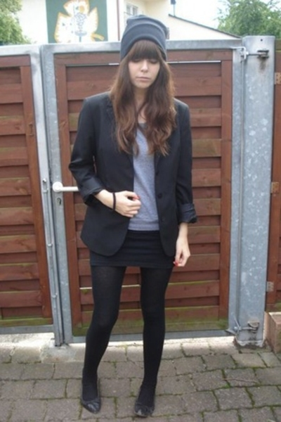 American Apparel dress - Secondhand blazer - American Apparel sweater - Zara sho