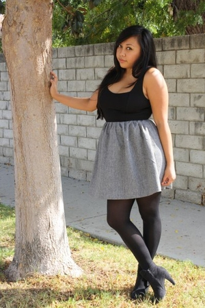 Forever 21 dress - Forever 21 stockings - boots