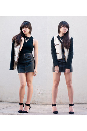 leather skirts H&amp;M skirt - Mango jacket