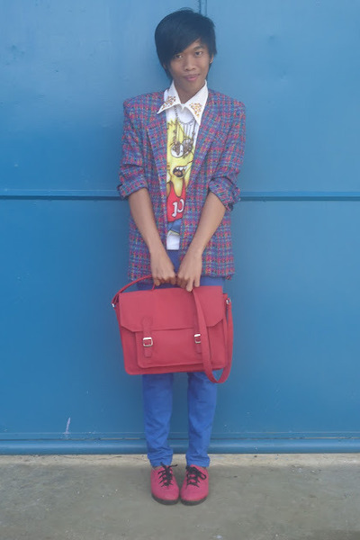 satchel Penshoppe bag - thrifted shoes