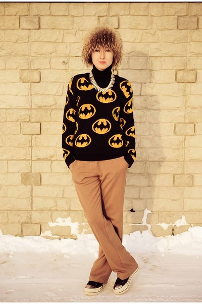 batman Ebay sweater - metal toe Ebay sneakers