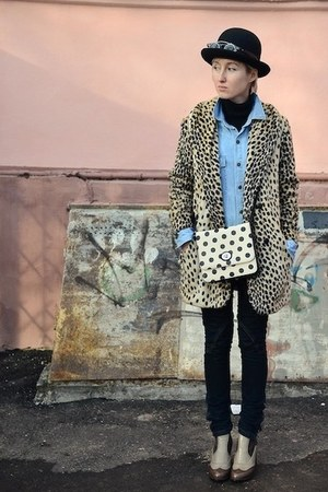leopard asos coat - dots Oggi bag