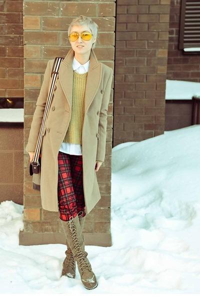 lace up Ebay boots - tartan Ebay pants