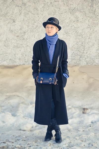 handmade scarf scarf - long Incity coat - bowler flea market hat