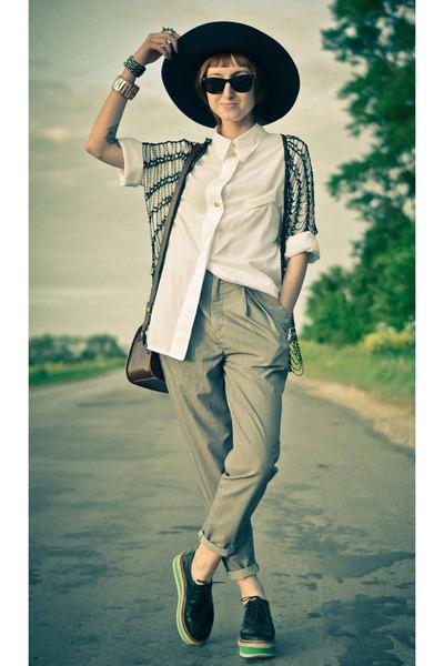 vintage shirt - vintage cape - creeps nonage loafers