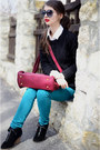 Ruby-red-pull-bear-bag-black-new-yorker-boots-black-h-m-sweater