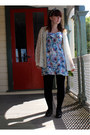 Floral-dress-glassons-dress-dorothy-perkins-jacket-home-made-accessories