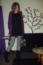 sweater - American Apparel dress - H&M leggings - boots