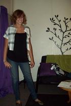 shirt - jacket - jeans - shoes