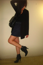 cardigan from garment district top - from singapore top - moms shoes