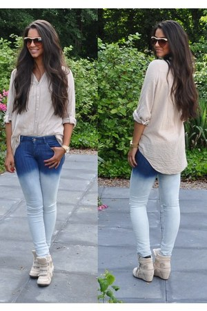 Zara jeans - H&M blouse - Michael Kors watch