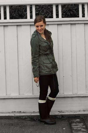 rain boots Payless boots - Forever 21 jeans - anorak H&M jacket