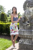 Anthropologie skirt - Anthropologie bra - Zara heels