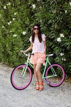 Rebecca Taylor shorts - TJ Maxx sunglasses - Ugg Australia wedges