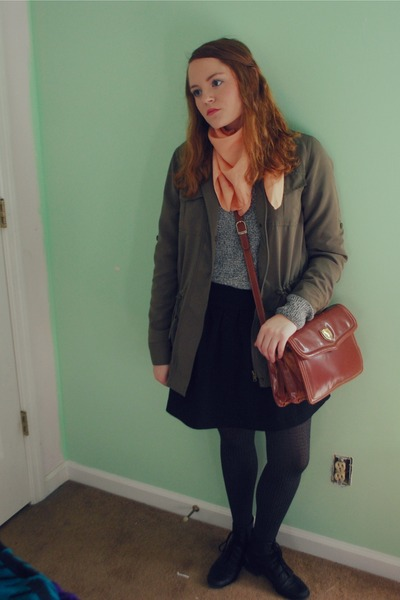 H&M sweater - Chaps jacket - Forever 21 skirt