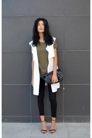 white choiescom vest - fine Zara heels