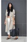 Trench-coat-zara-coat-white-choiescom-pants-sliders-asos-flats