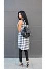 Plaid-choiescom-dress-backpack-anna-xi-bag-fine-zara-heels