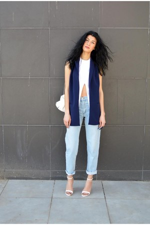 blue the fashion lab vest