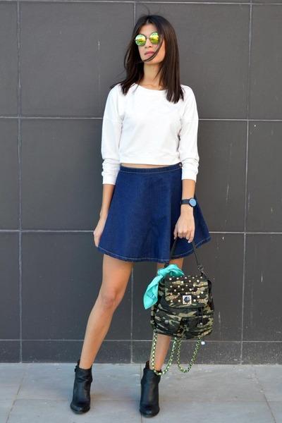camo Pomikaki bag - ankle boots Zara boots - choiescom sunglasses