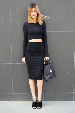 Chanel bag - asos skirt
