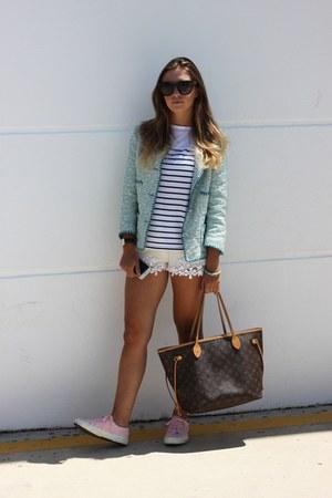 sky blue Zara blazer