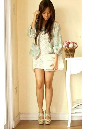 shopvintagefindsmultiplycom dress - pastel floral vintage blazer - Chloe purse