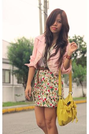 peachy rosette shopvintagefindsmultiplycom blazer - yellow Kenneth Cole purse -