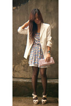 white vintage blazer - berry printed shopvintagefindsmultiplycom dress